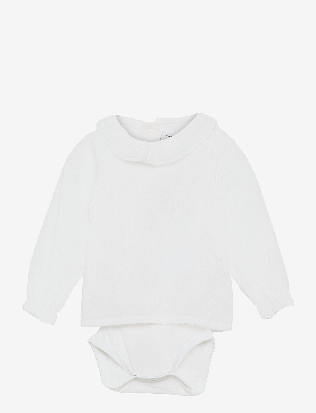 name it - NBFFERRET LS SHIRT BODY - langärmelig - bright white - 0