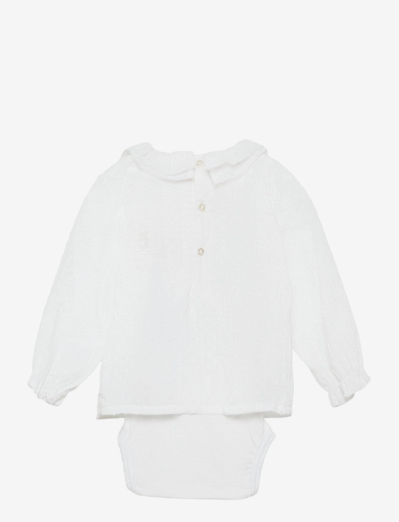 name it - NBFFERRET LS SHIRT BODY - langärmelig - bright white - 1