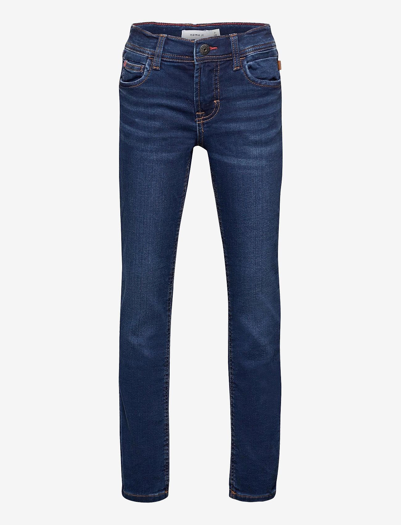 name it - NKMTHEO DNMTIMES 3470 SWE PANT NOOS - jeans - dark blue denim - 0