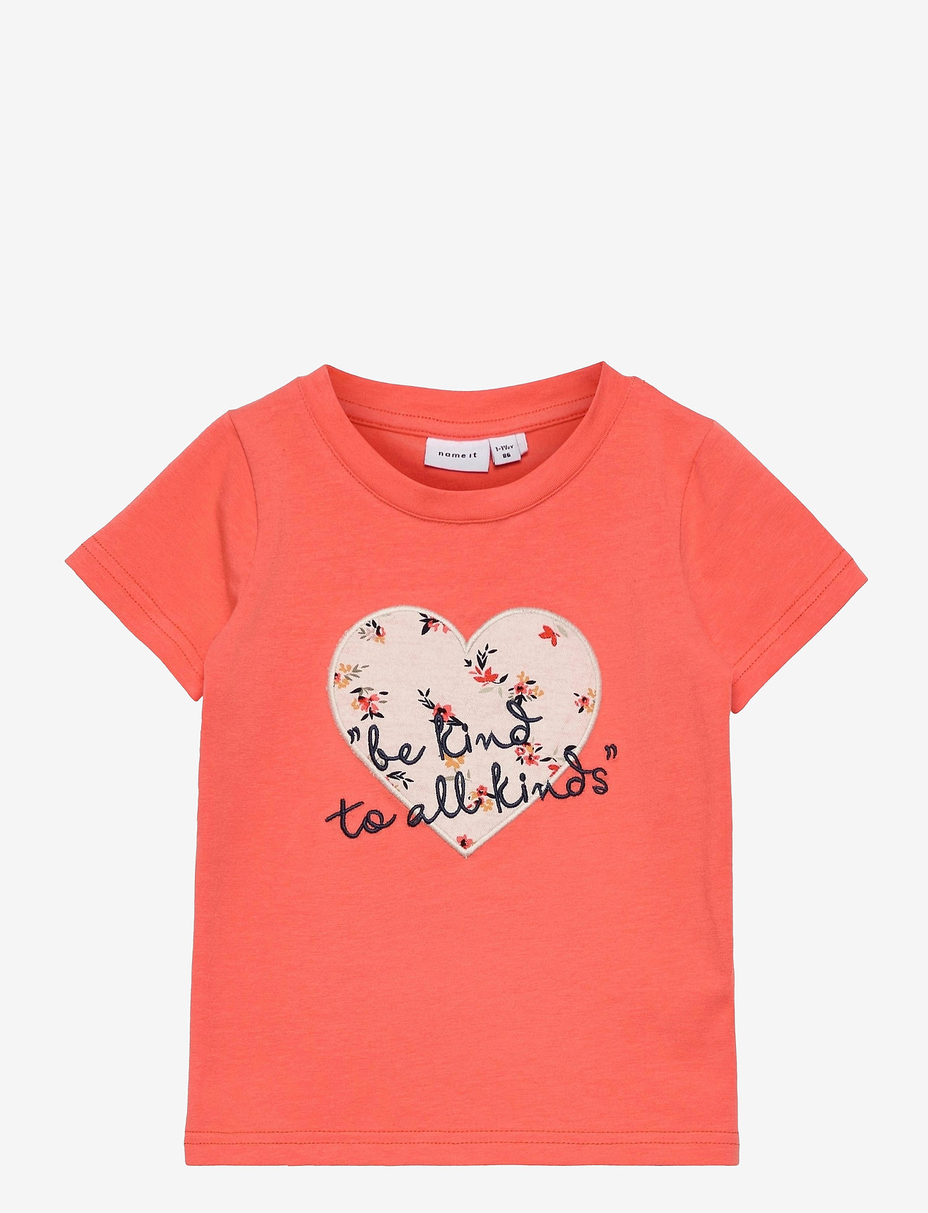 name it - NMFDELFIN SS TOP - t-shirts - persimmon - 0