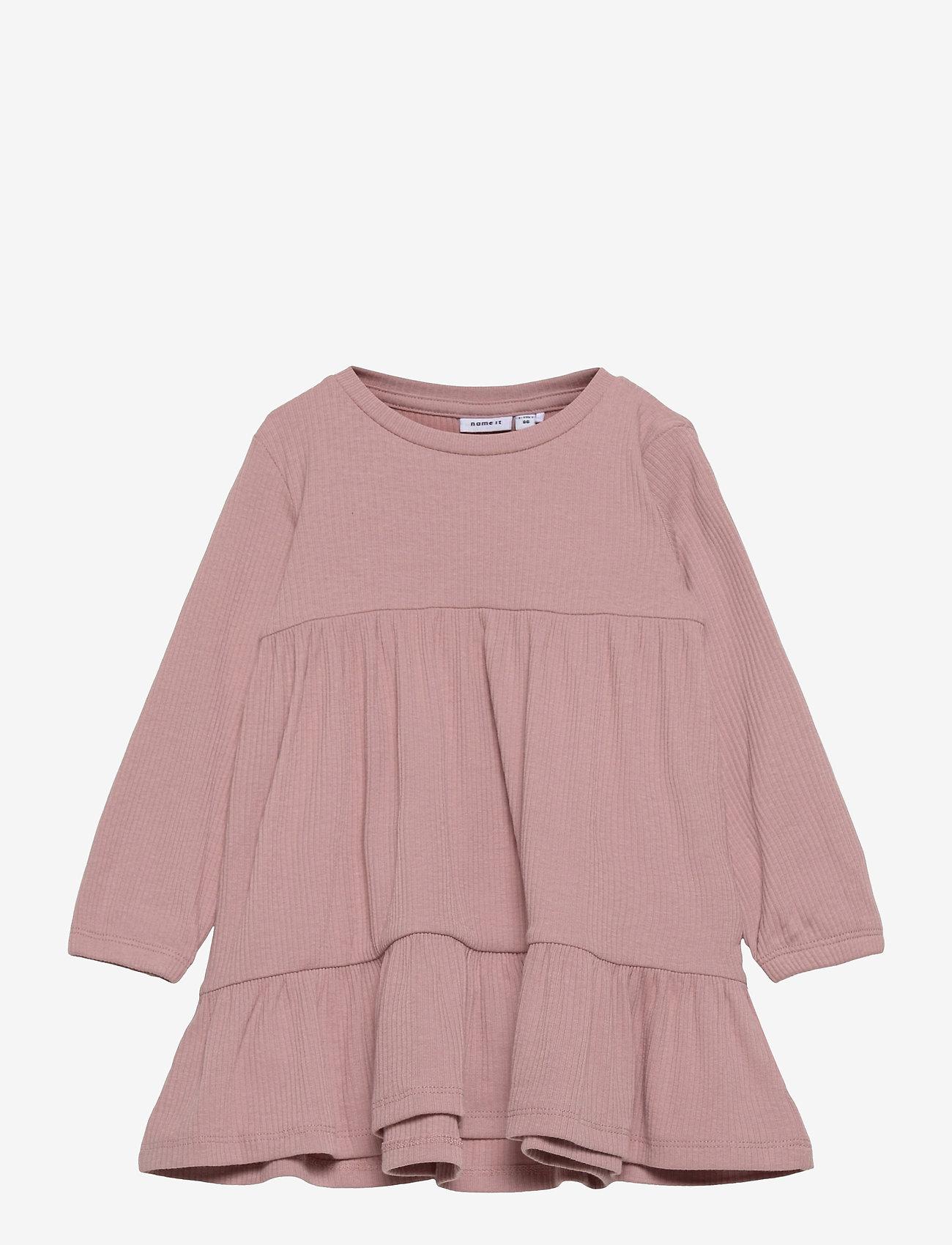 name it - NMFFABBI LS DRESS - kleider - adobe rose - 0