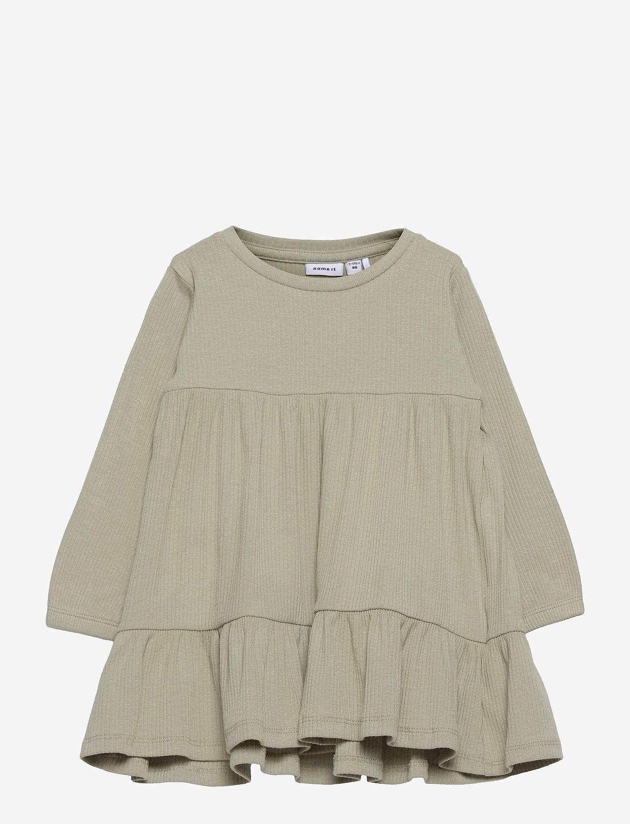 name it - NMFFABBI LS DRESS - kleider - desert sage - 0