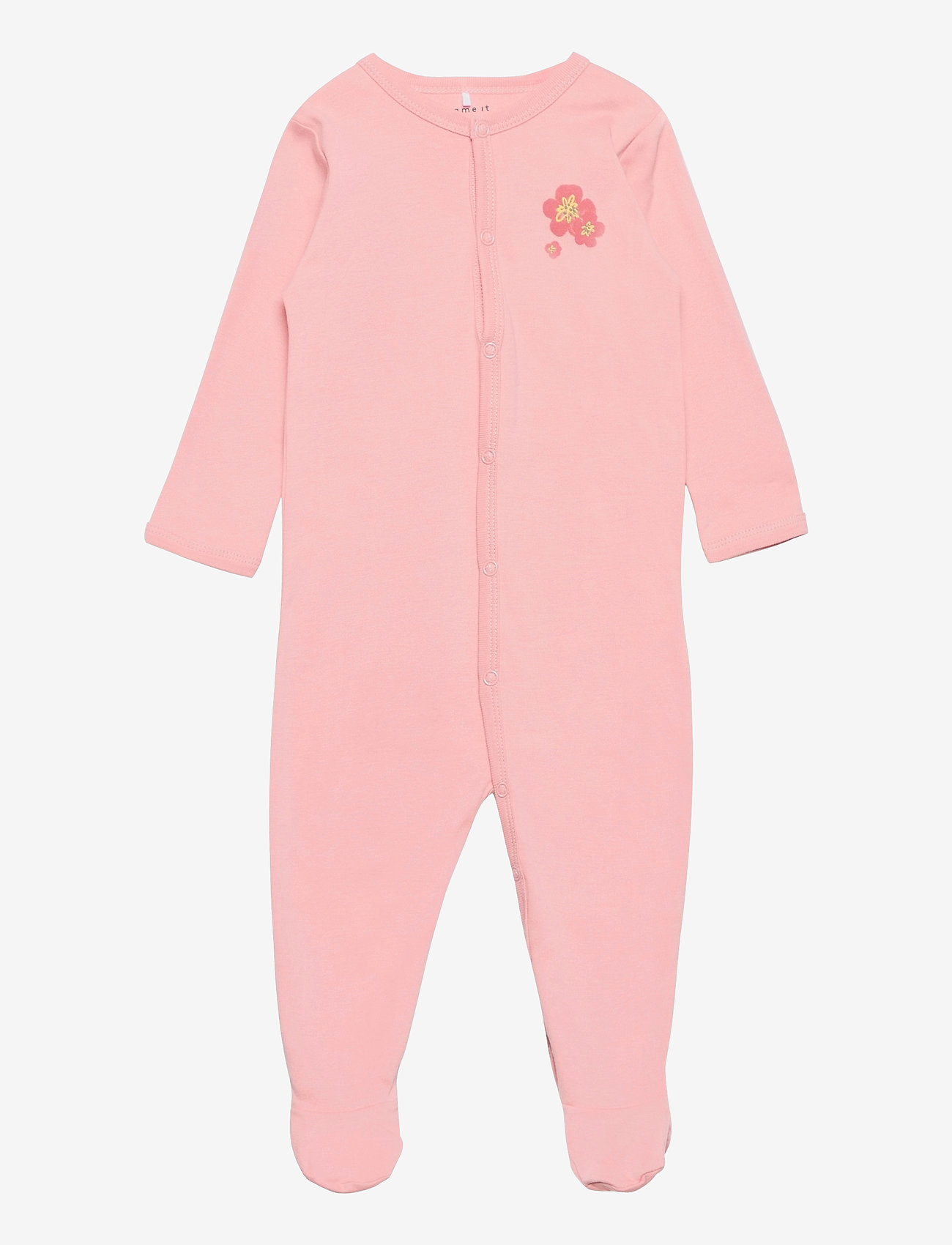 name it - NBFNIGHTSUIT 2P W/F SILVER PINK - langärmelig - silver pink - 0