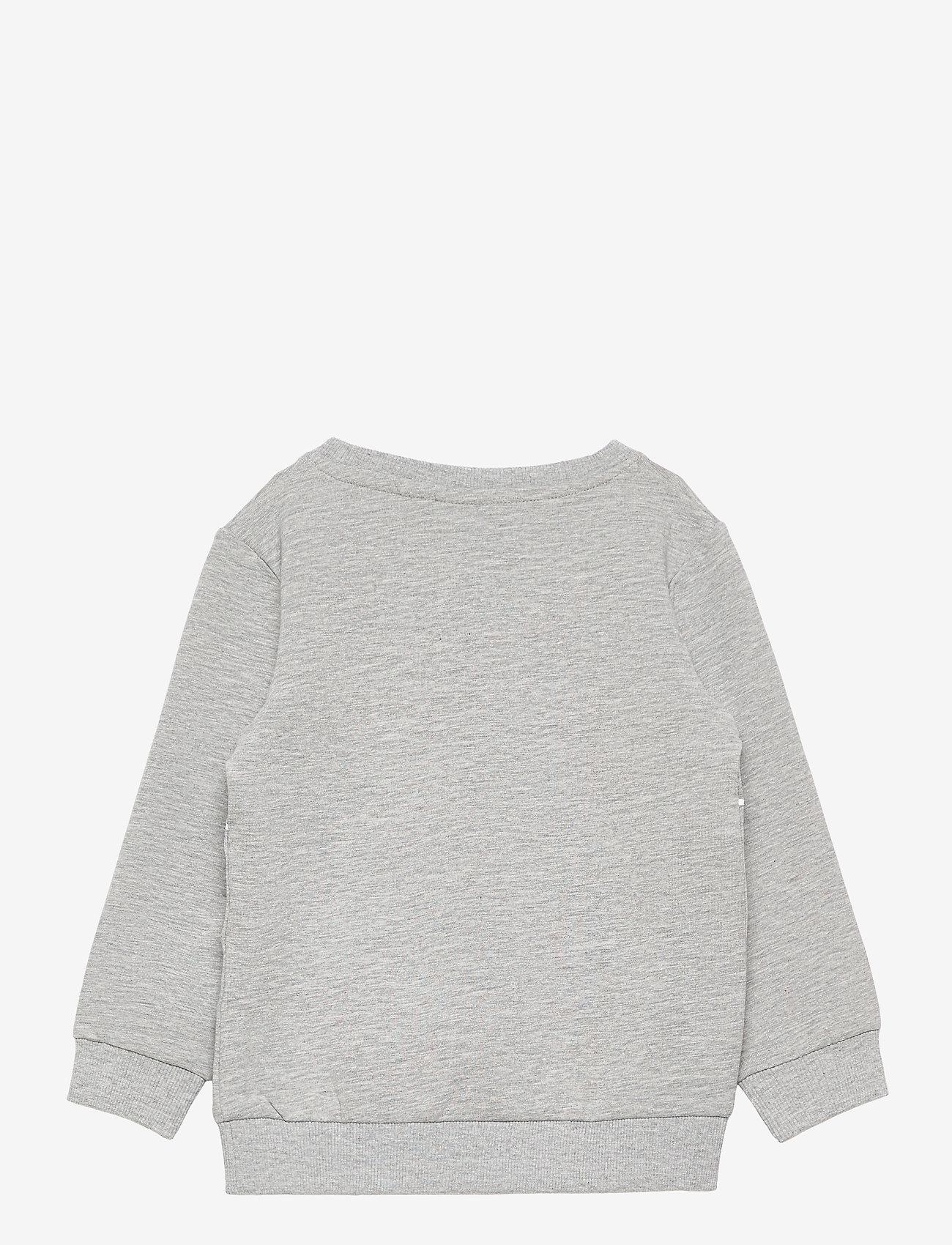 name it - NMMPEPPAPIG SALIK SWEAT UNB PEP - sweatshirts - grey melange - 1