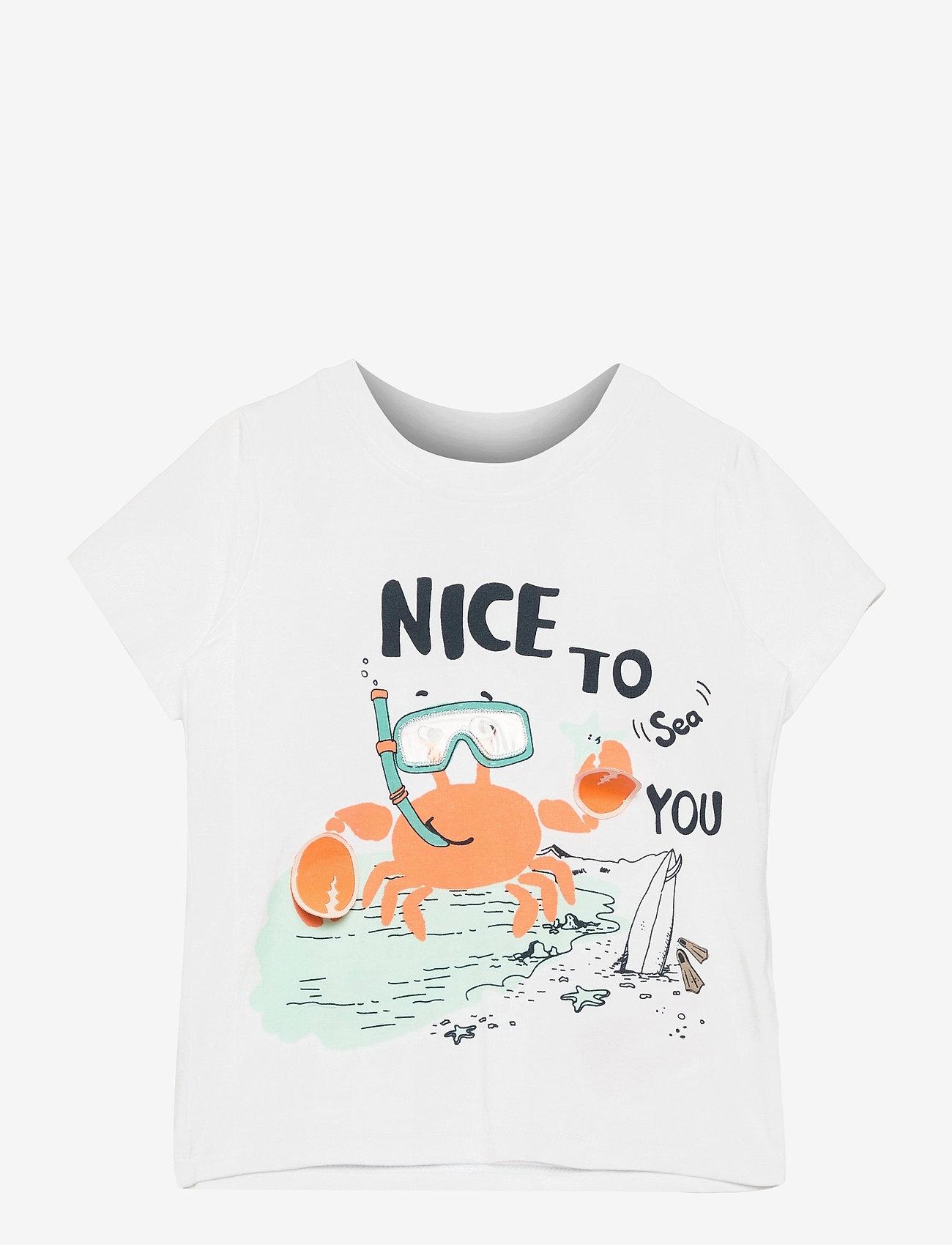 name it - NMMFANO SS TOP BOX - t-shirts - bright white - 0