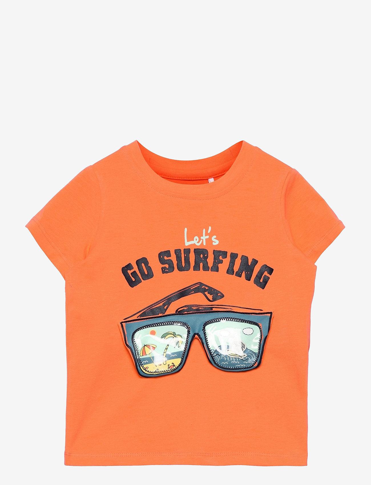 name it - NMMFANO SS TOP BOX - t-shirts - melon - 0