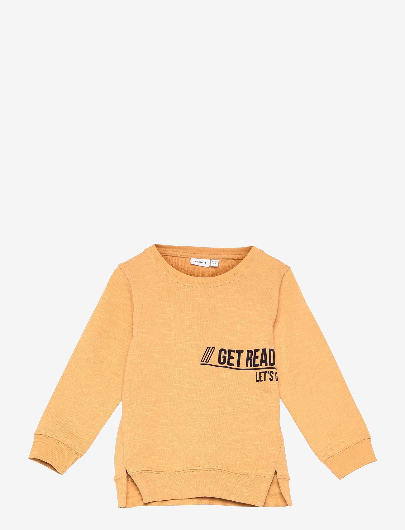name it - NMMDASSI LS SWEAT UNB - sweatshirts - spruce yellow - 0