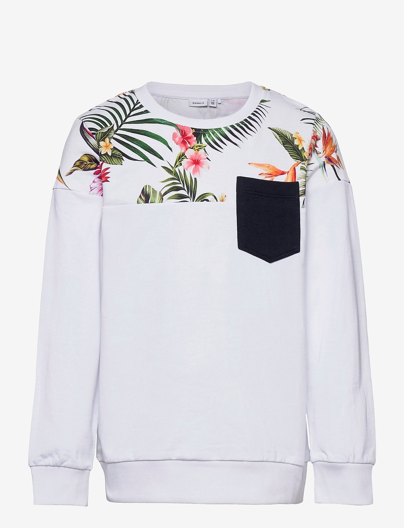 name it - NKMFAKIR LS SWEAT UNB - sweatshirts - bright white - 0