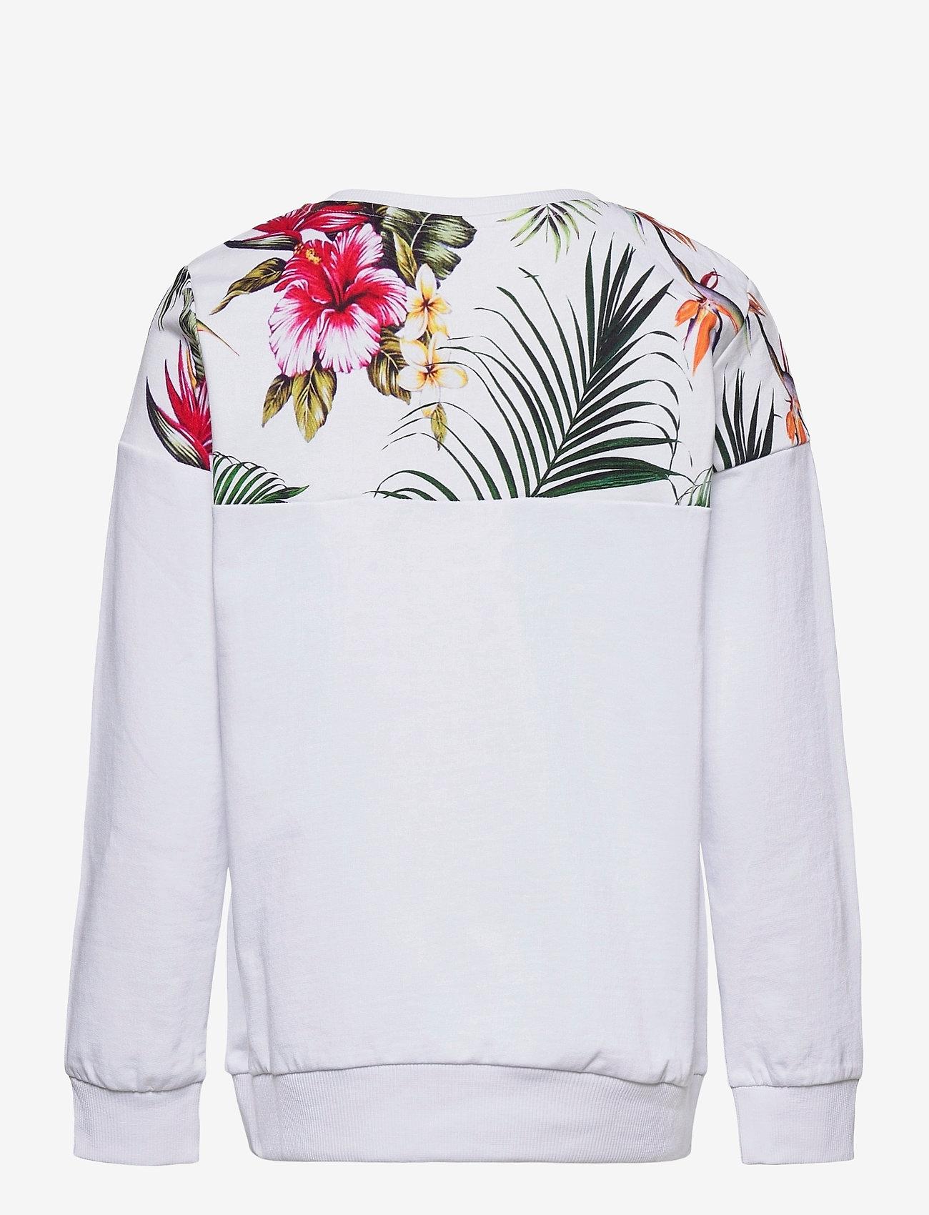 name it - NKMFAKIR LS SWEAT UNB - sweatshirts - bright white - 1