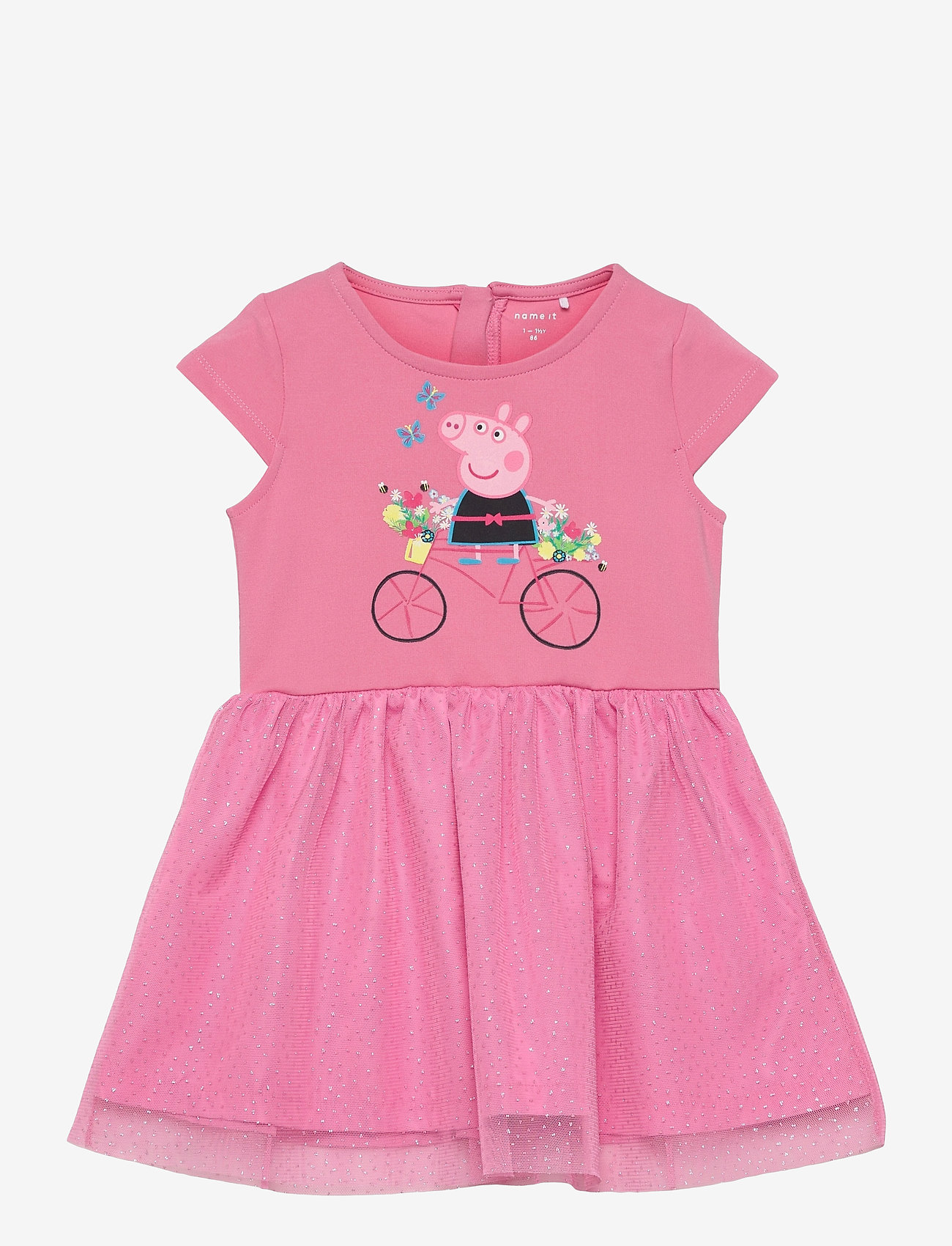 name it - NMFPEPPAPIG MANDY SS DRESS PEP - kleider - morning glory - 0