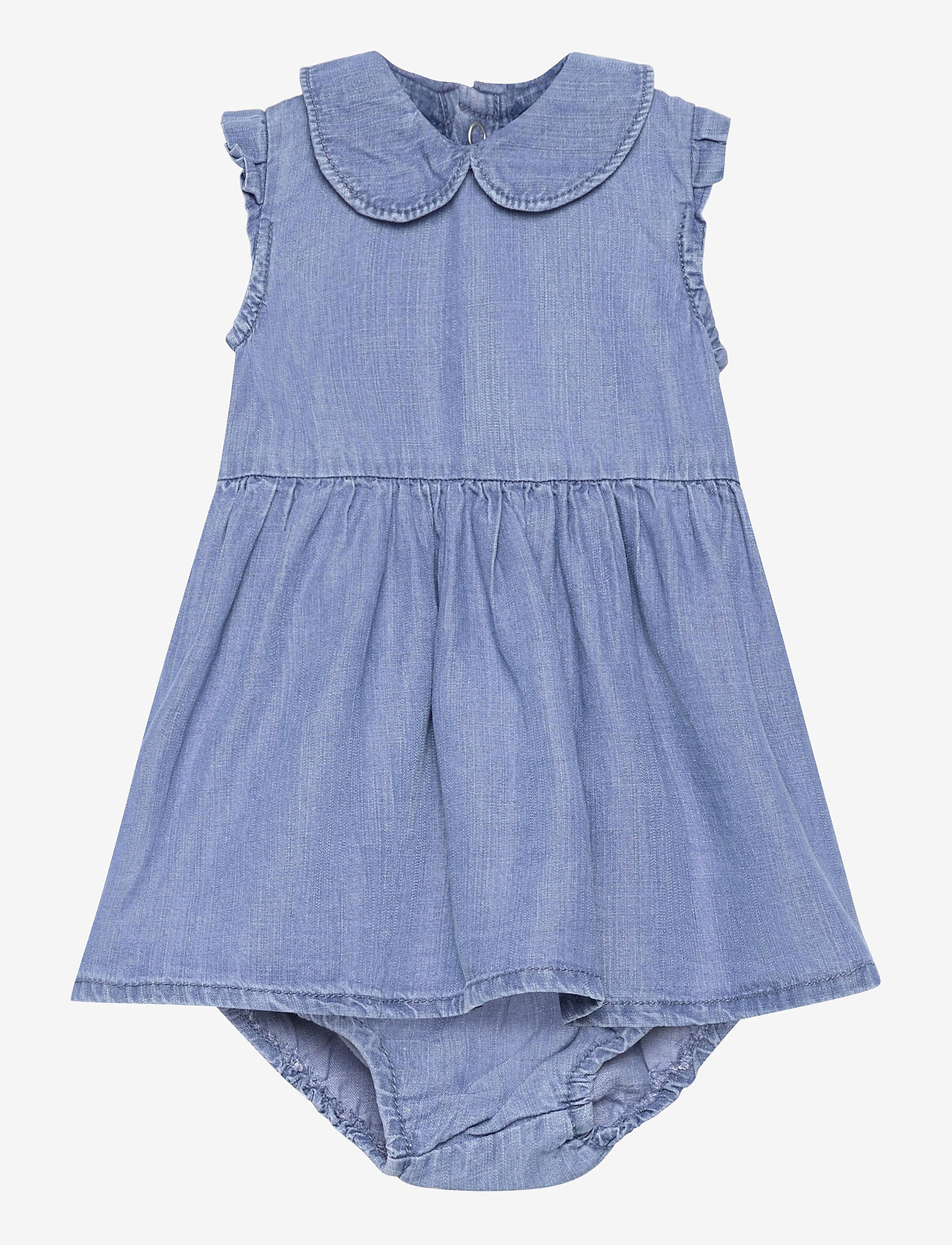 name it - NBFATHIT DNM 2522 S/S DRESS W TROUSERS - kleider - medium blue denim - 0
