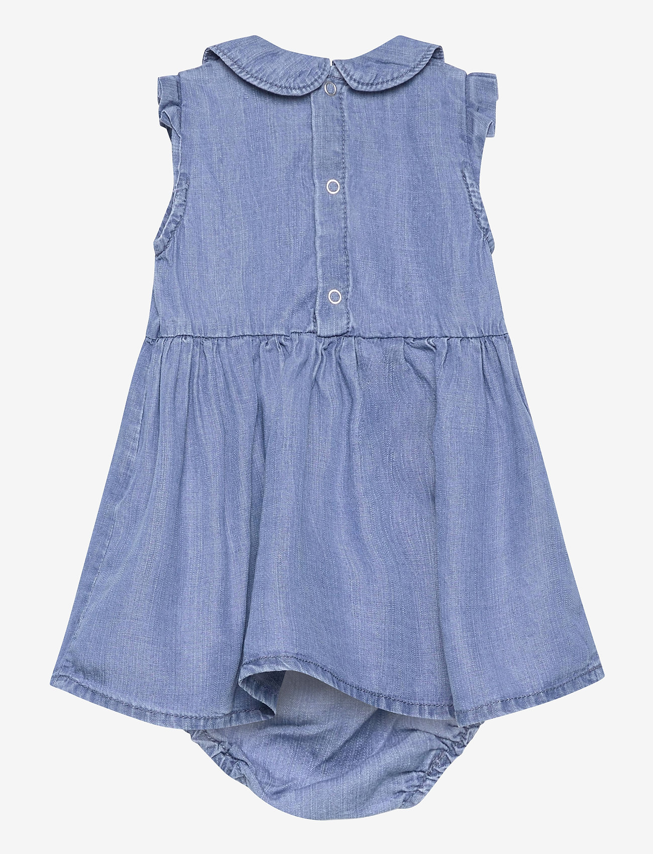 name it - NBFATHIT DNM 2522 S/S DRESS W TROUSERS - kleider - medium blue denim - 1