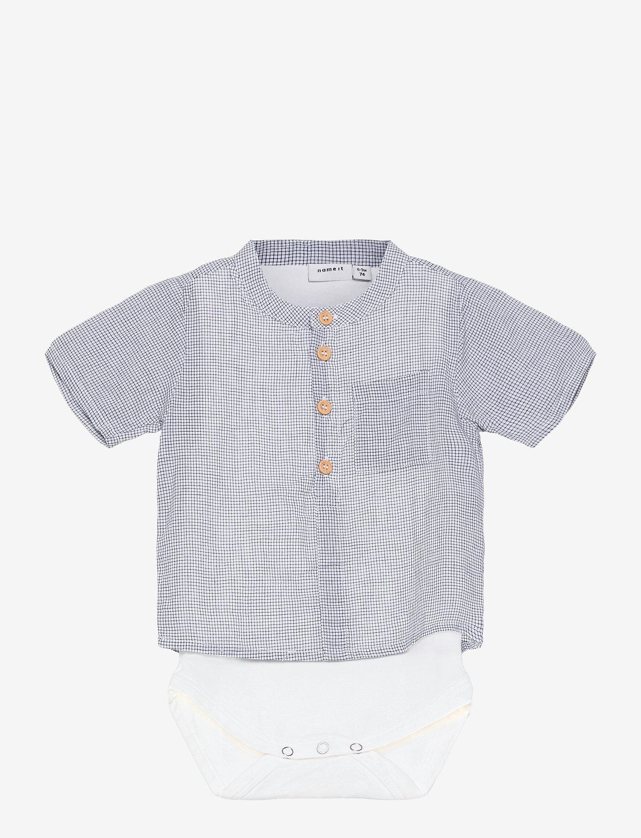name it - NBMHELMAR SS BODY SHIRT - shirts - bright white - 0