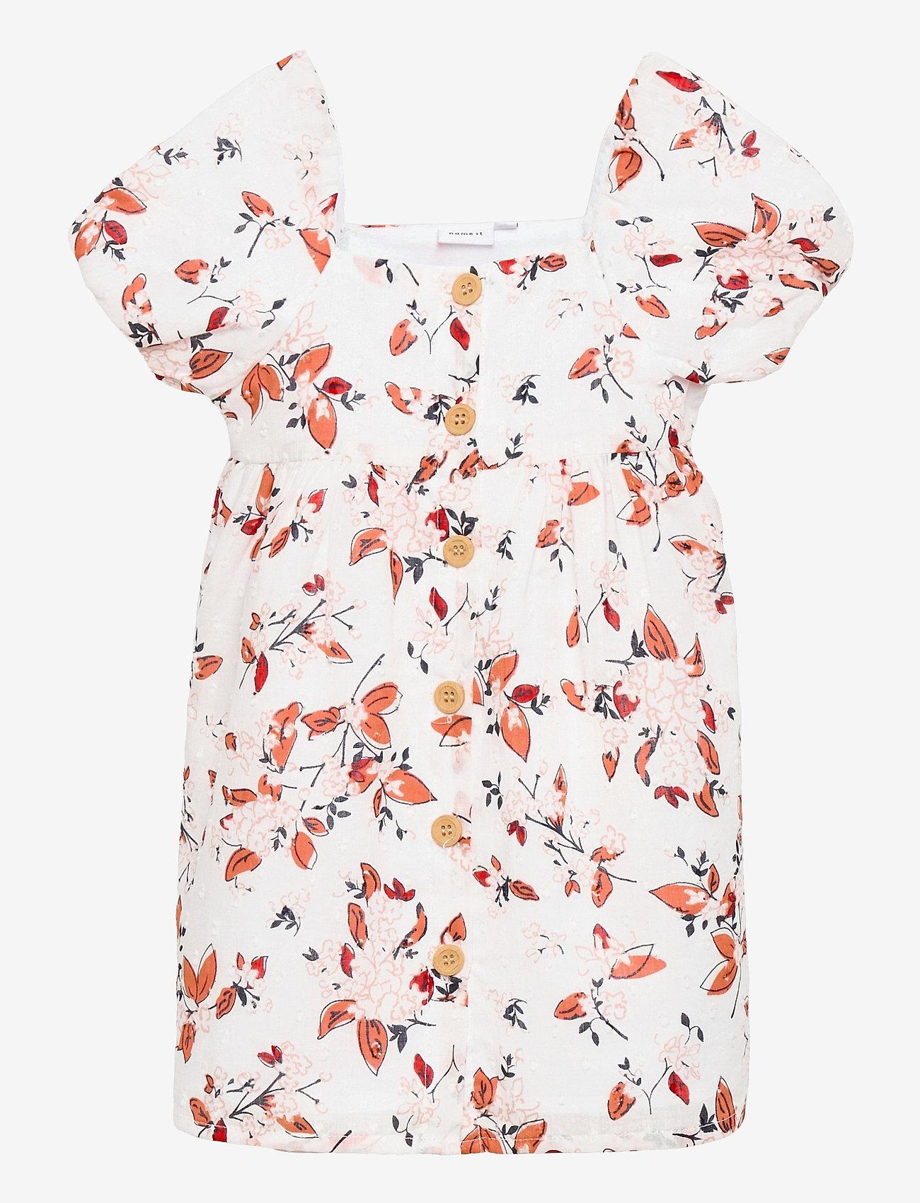 name it - NMFHAJETTA SS DRESS - kleider - bright white - 0