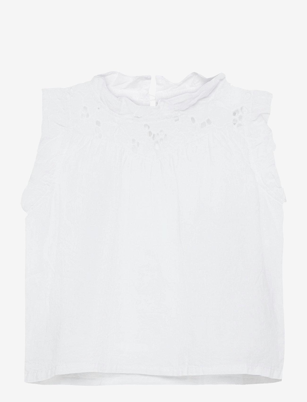 name it - NMFFANNE CAPSL TOP - t-shirts - bright white - 0