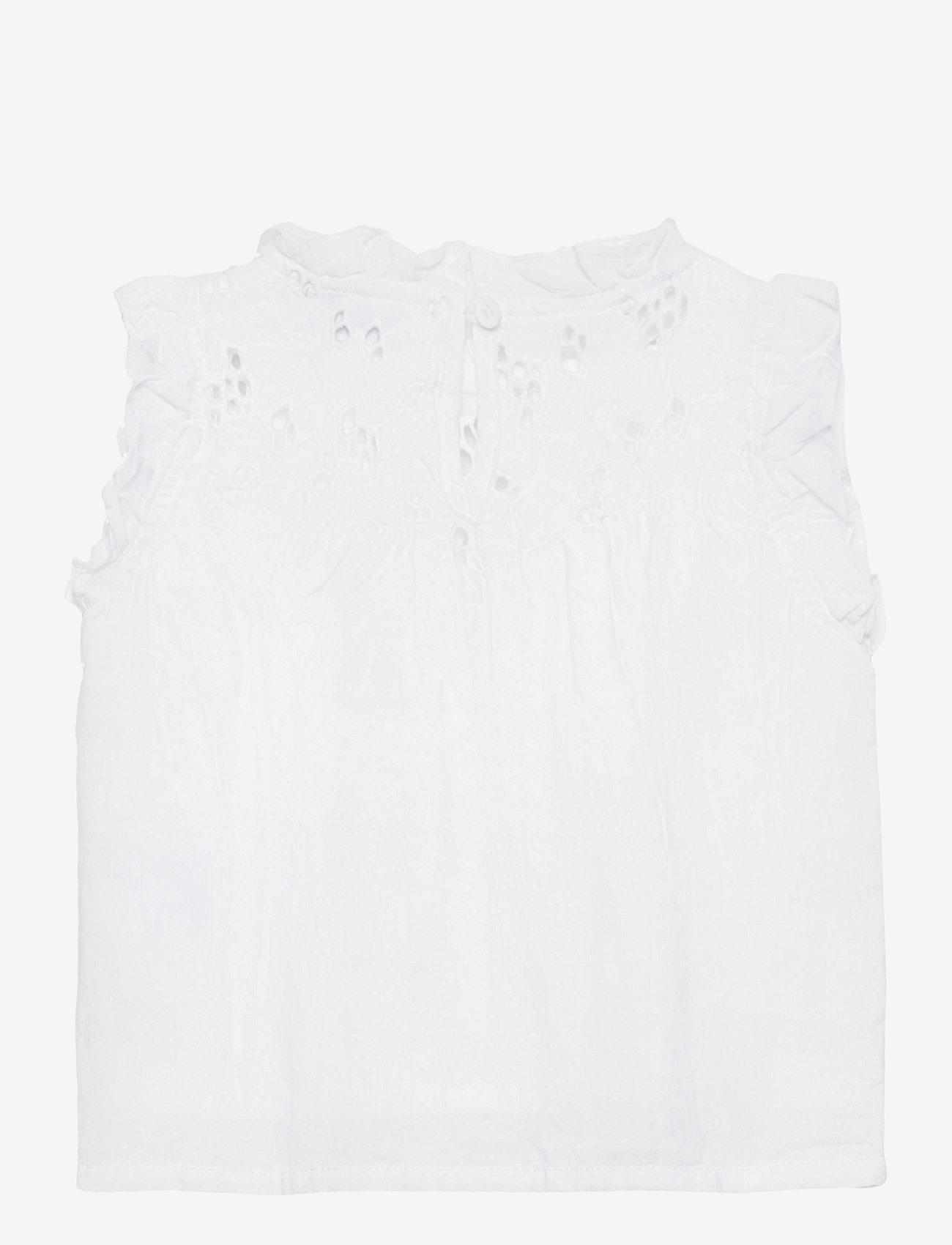 name it - NMFFANNE CAPSL TOP - t-shirts - bright white - 1