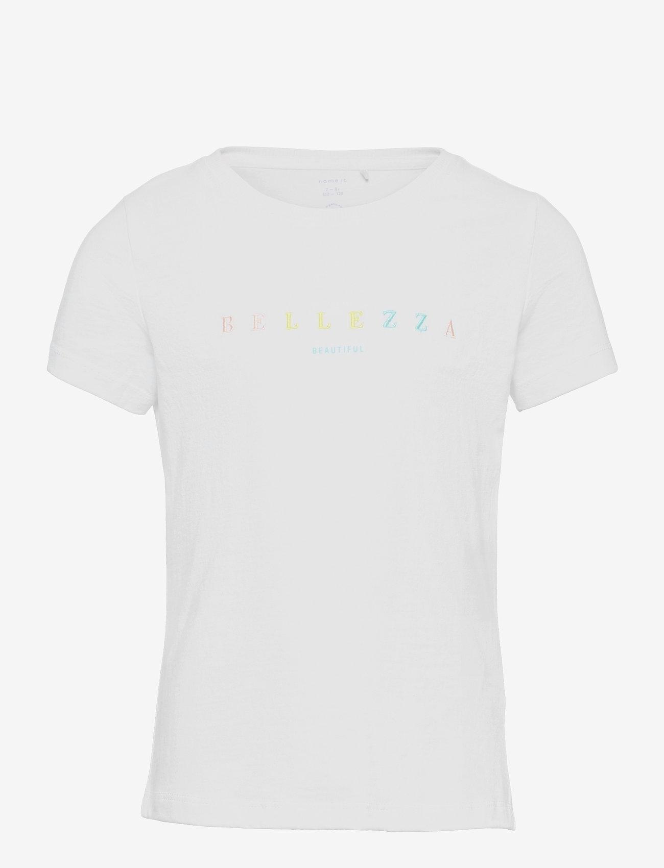 name it - NKFHABA SS TOP - t-shirts - bright white - 0