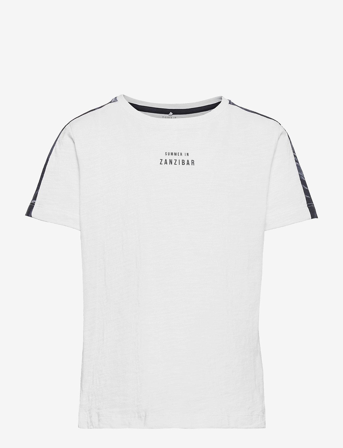 name it - NKMHAILOM SS TOP - t-shirts - bright white - 0
