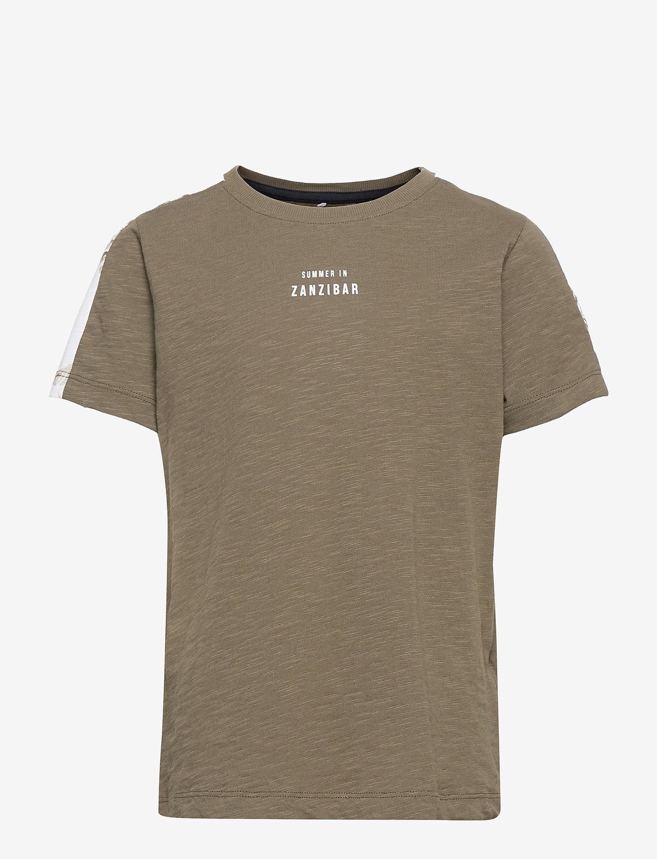 name it - NKMHAILOM SS TOP - t-shirts - ivy green - 0
