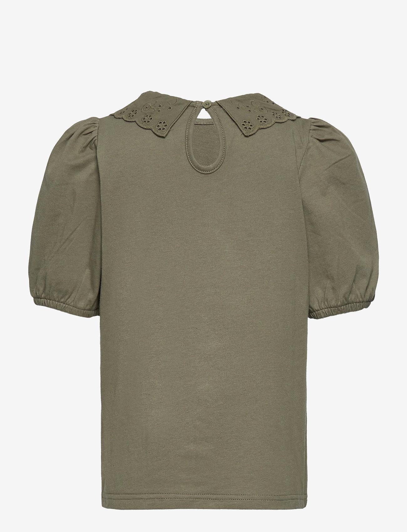 name it - NKFHEIDIL SS TOP - t-shirts - deep lichen green - 1