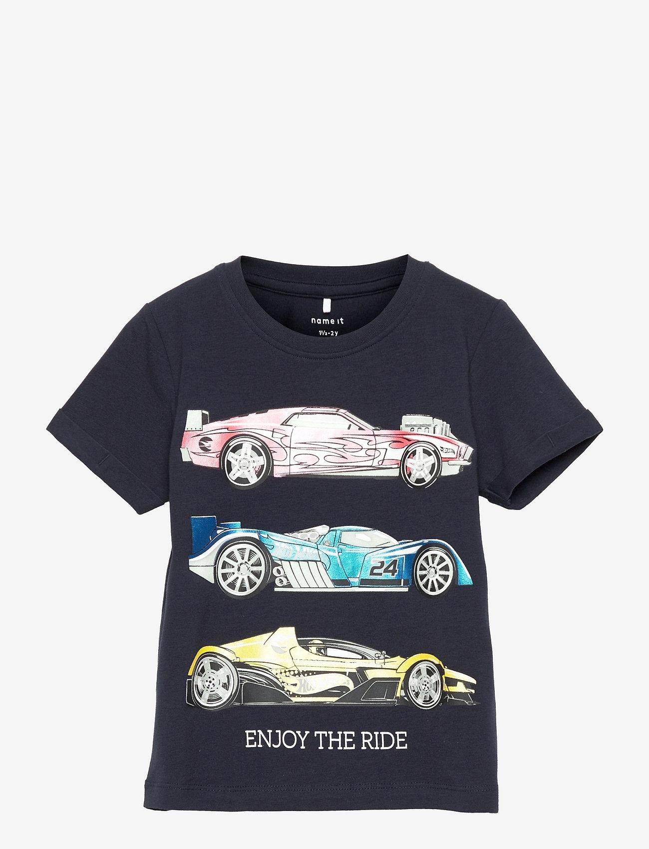 name it - NMMHOTWHEELS EVALD SS TOP LIC - t-shirts - dark sapphire - 0