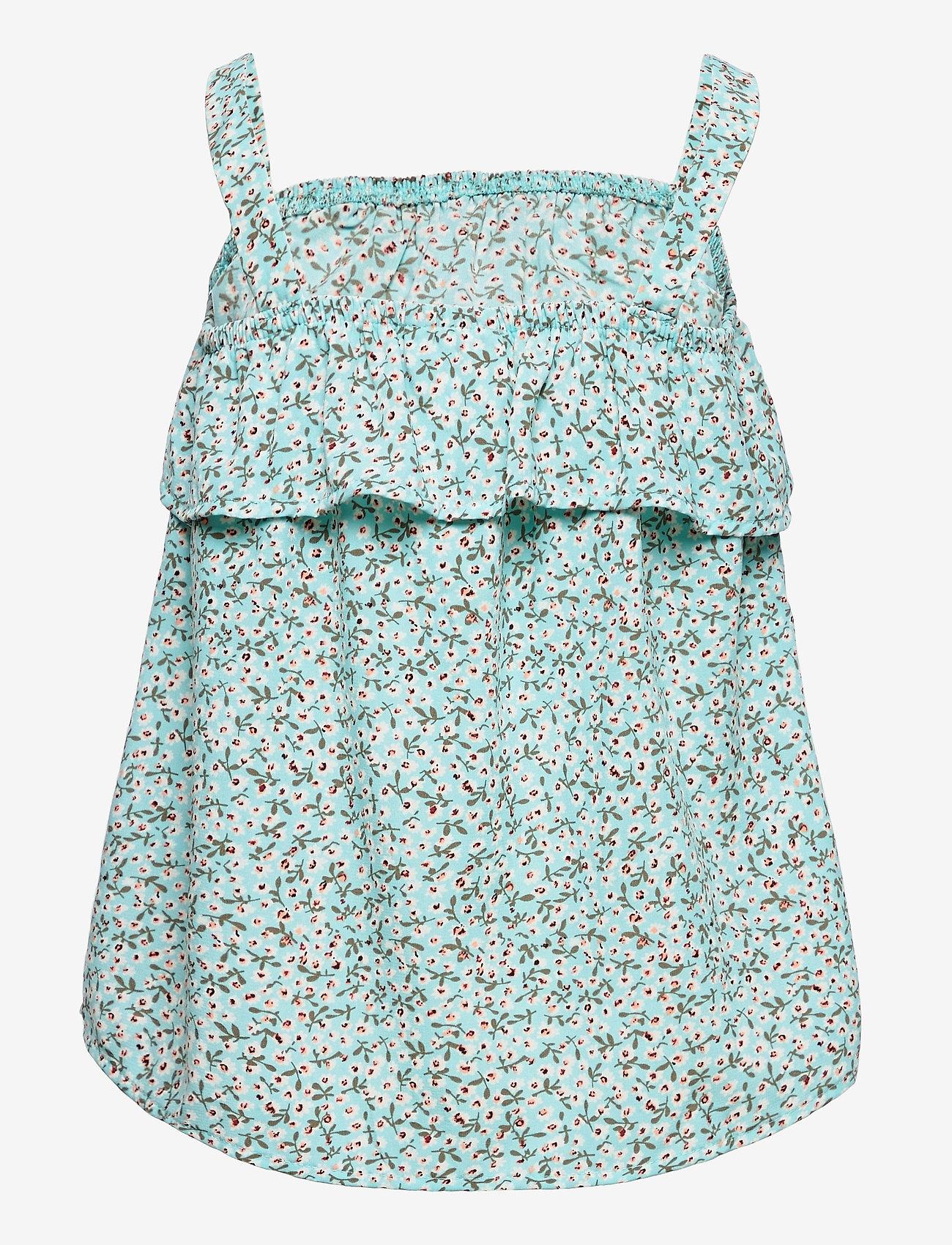 name it - NKFVINAYA FLOUNCE STRAP TOP HH - t-shirts - pastel turquoise - 1