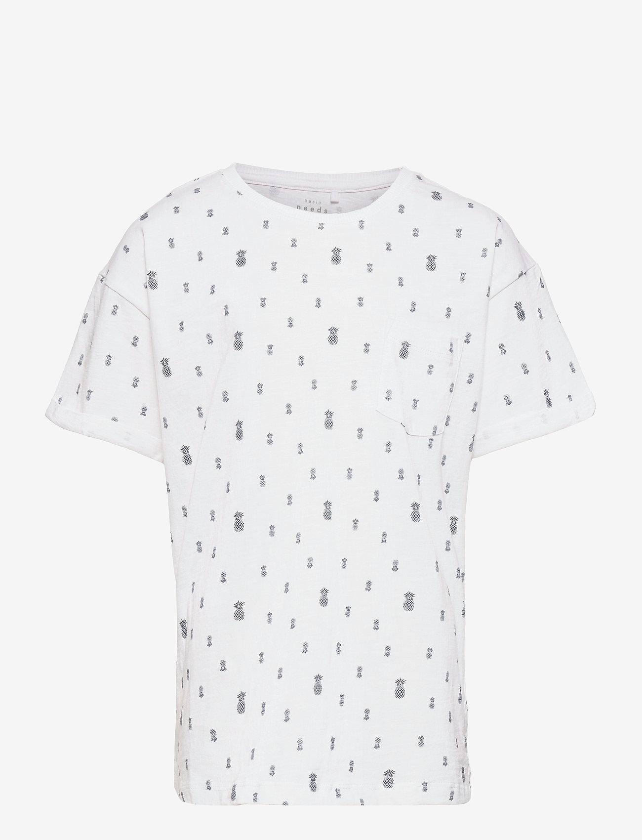 name it - NKMVEJON SS BOXY TOP H - t-shirts - bright white - 0