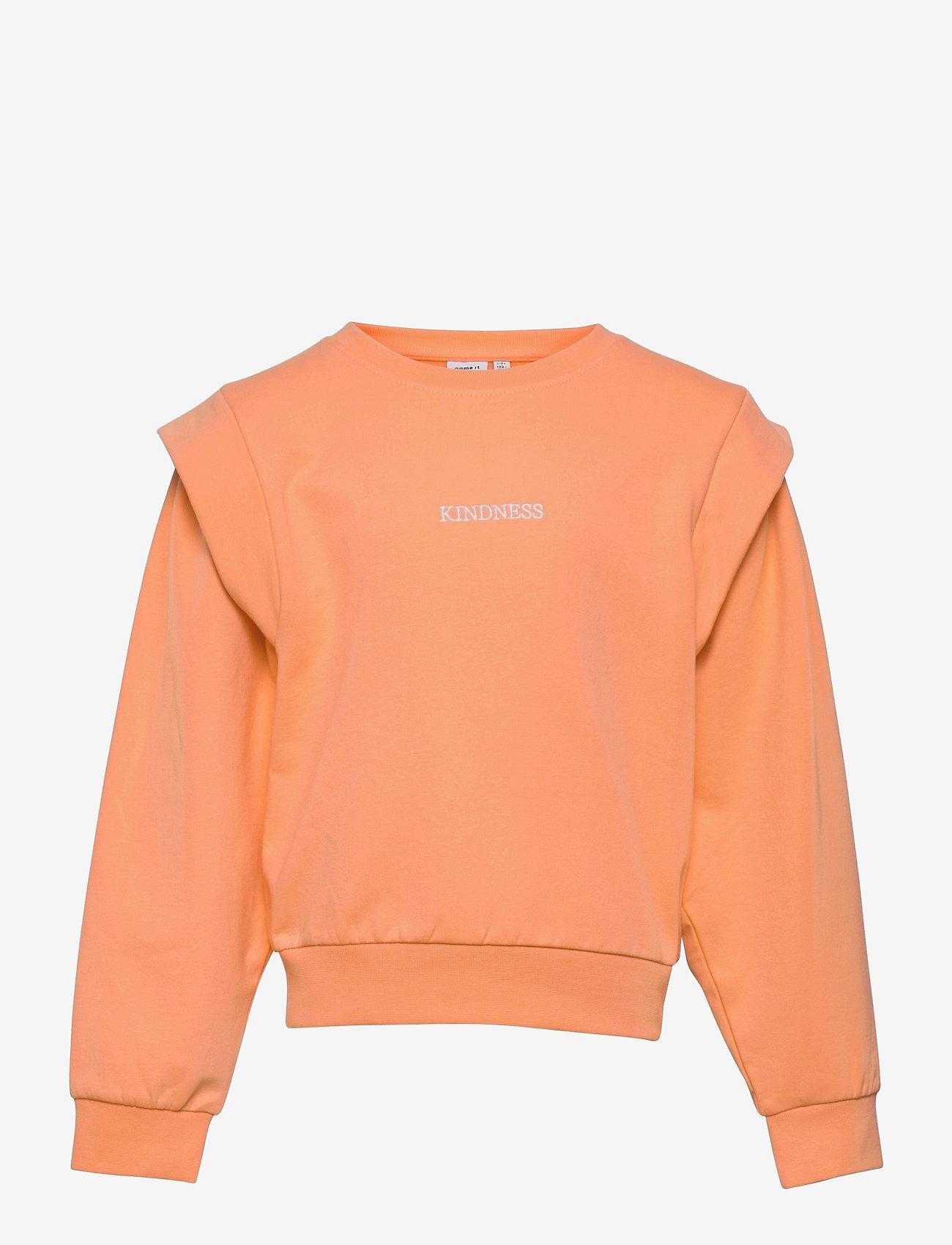 name it - NKFHOWAY LS SWEAT BRU - sweatshirts - cantaloupe - 0