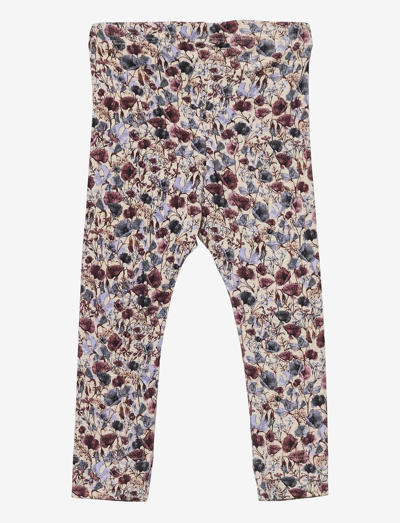 name it - NBFBEFRIDA SXL LEGGING - leggings - peyote melange - 1