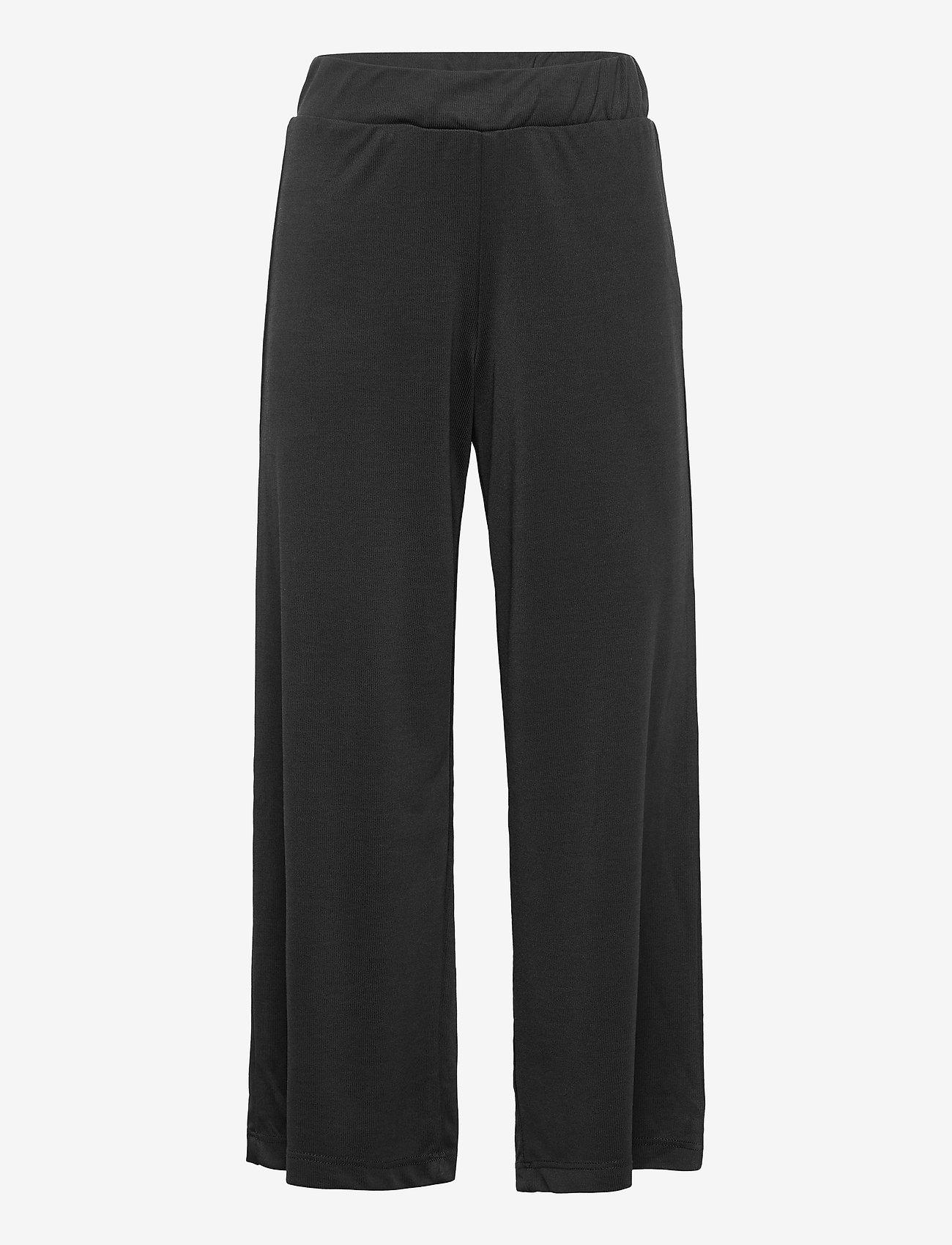 name it - NKFBANSIA WIDE PANTS - trousers - black - 0