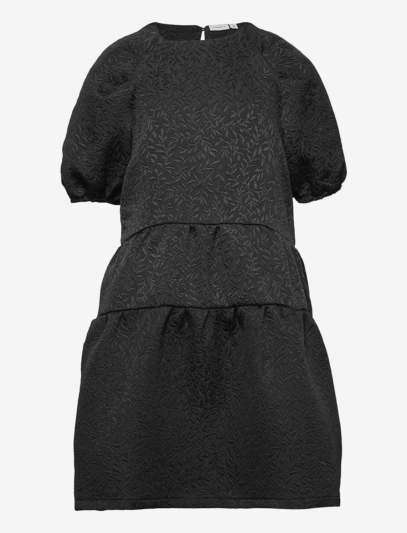 name it - NKFSALAST SS DRESS - kleider - black - 0