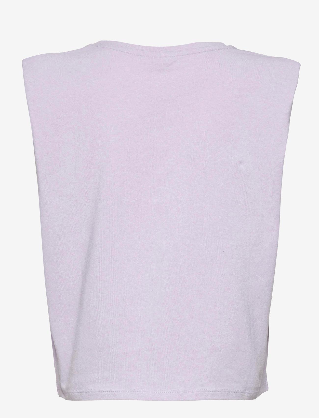 name it - NKFDYA CAPSL TOP - t-shirts - purple heather - 1