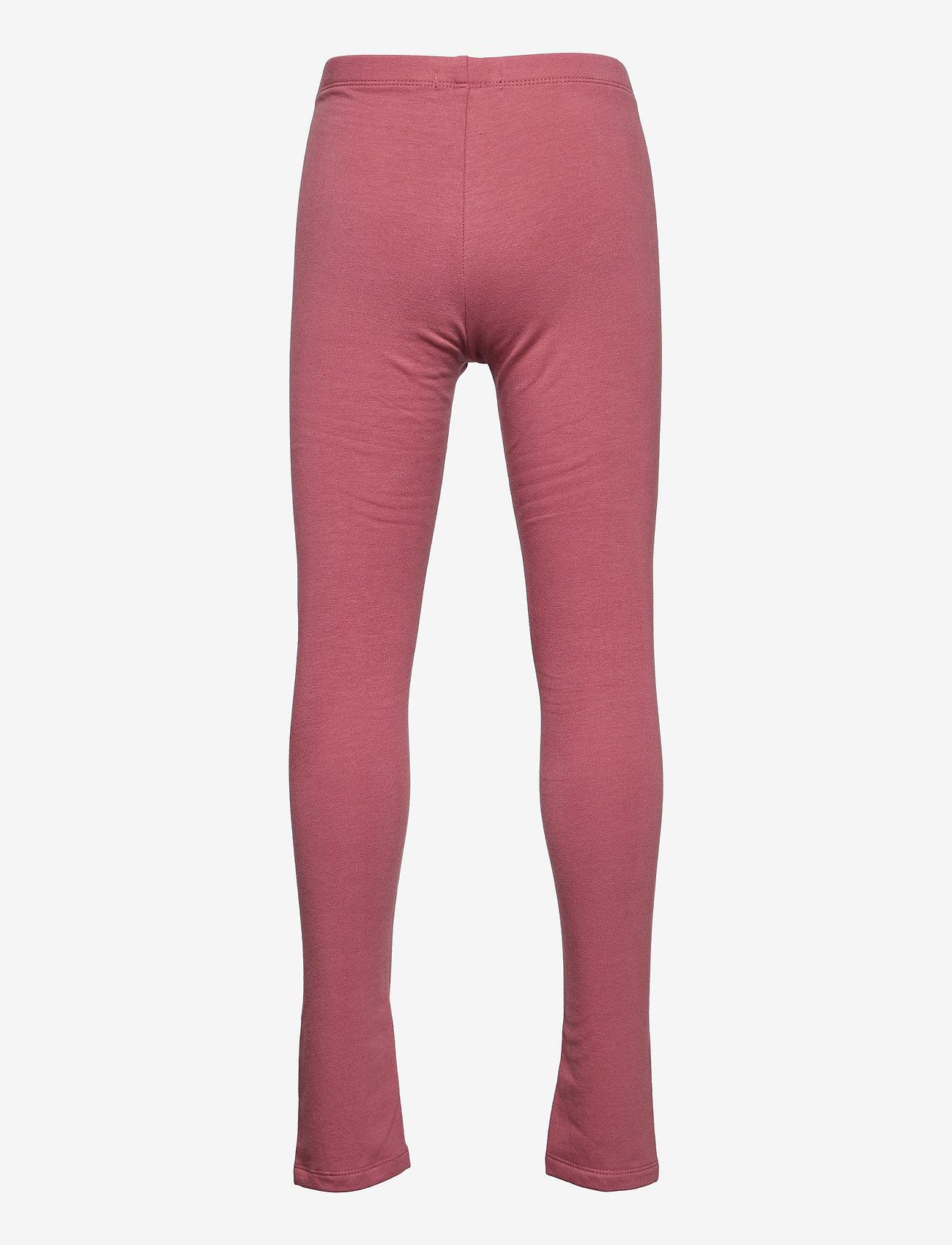 name it - NKFDAVINA SOLID SWE LEGGING  BRU N - leggings - deco rose - 1
