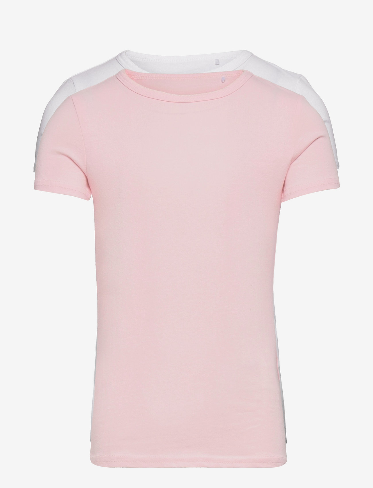 name it - NKFTOP SS SLIM 2P BARELY PINK - t-shirts - barely pink - 0