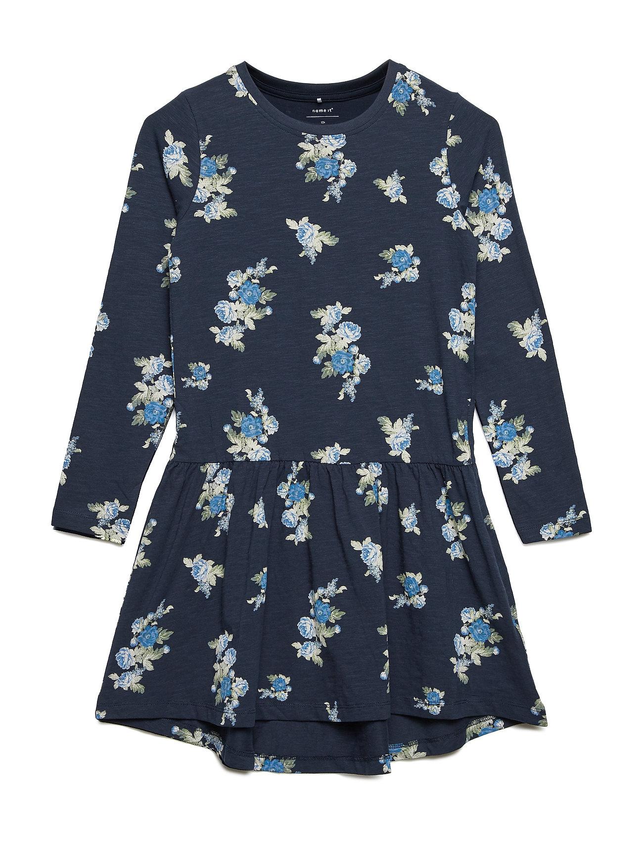 Image of Nkfbilla Ls Dress Kjole Blå NAME IT (3111745723)