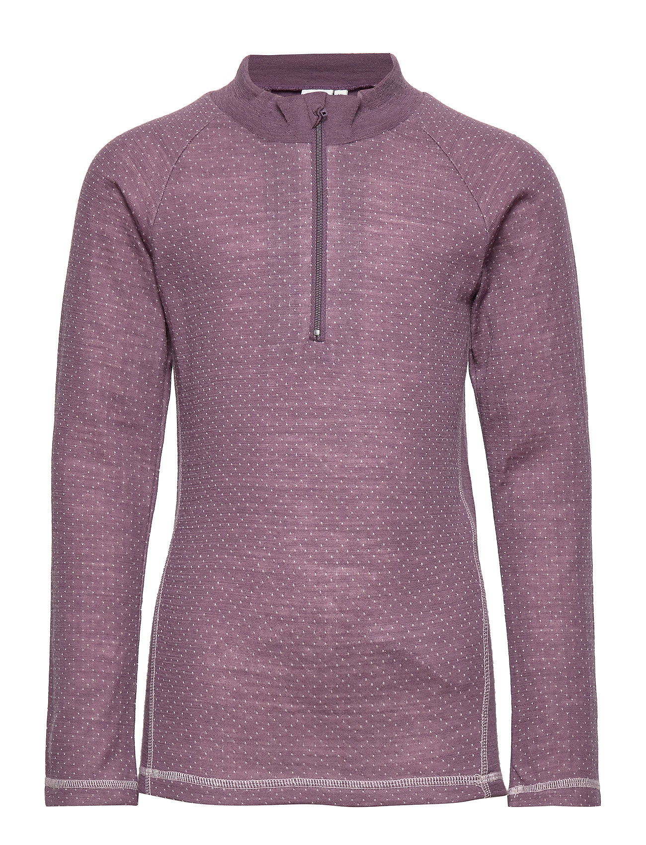 name it NKFWILL WOOL/POLY JAQ LS TURTLE XIX - BLACK PLUM