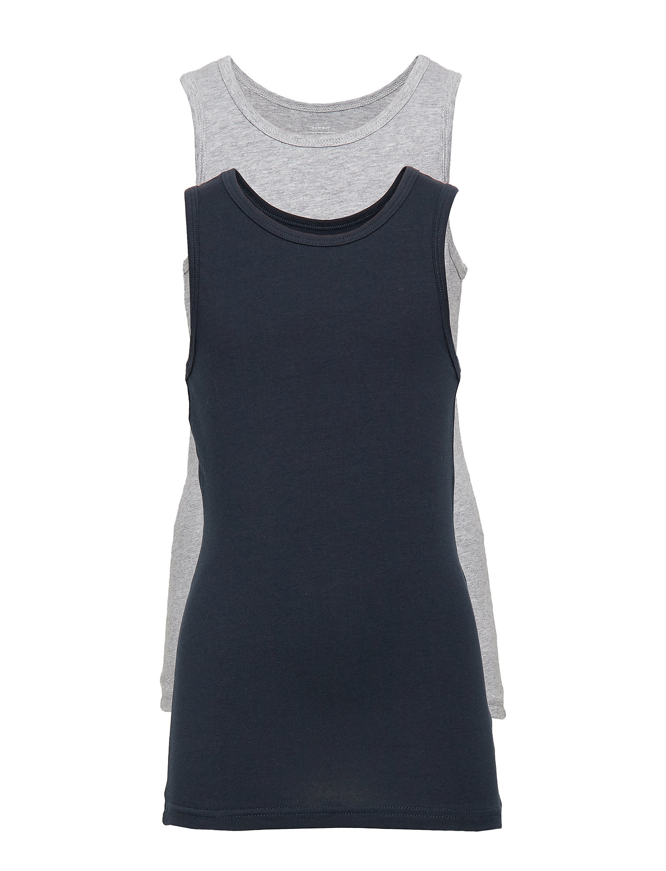 name it NKMTANK TOP 2P GREY MELANGE NOOS - GREY MELANGE