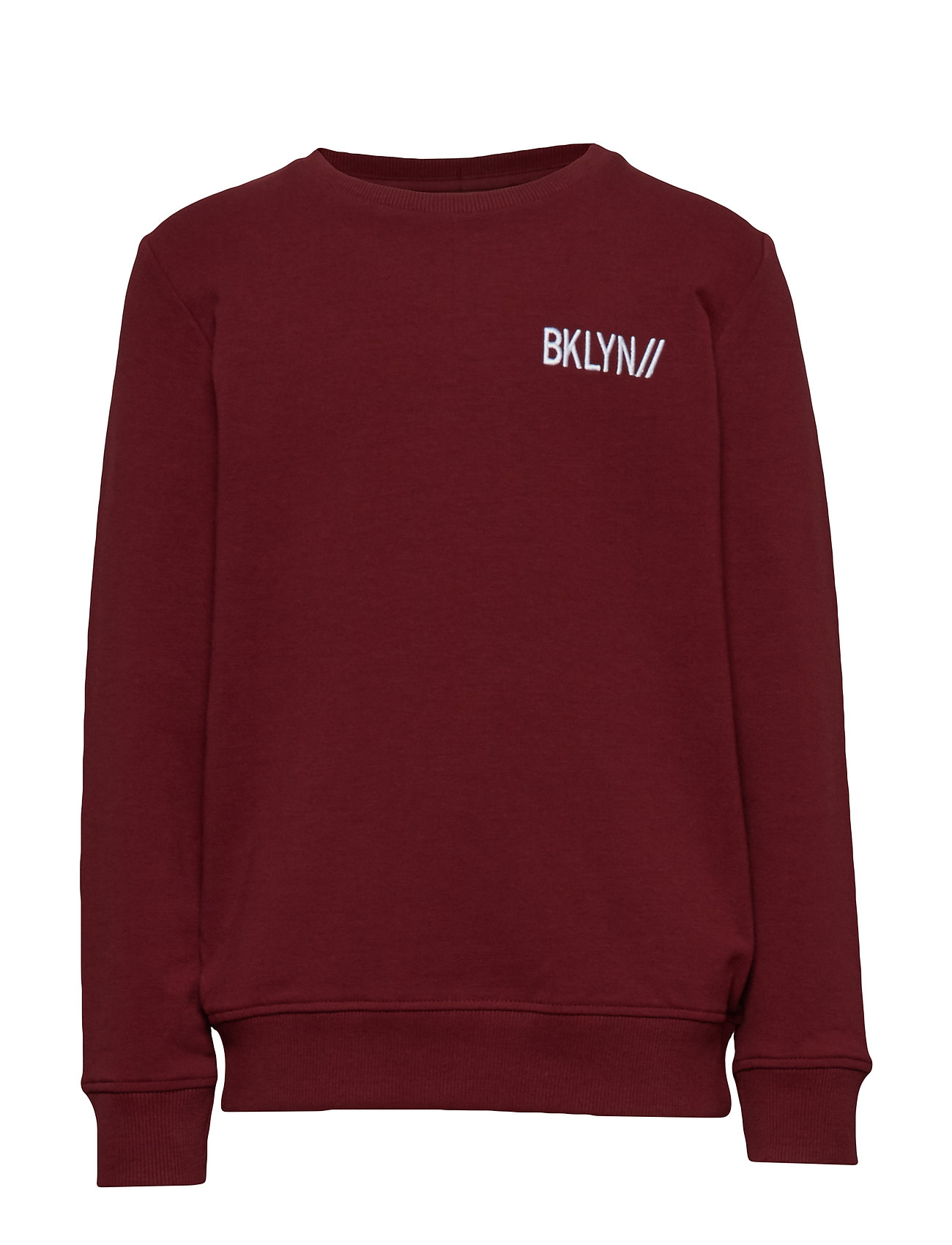 name it NKMLENZO LS SWEAT BRU - CABERNET