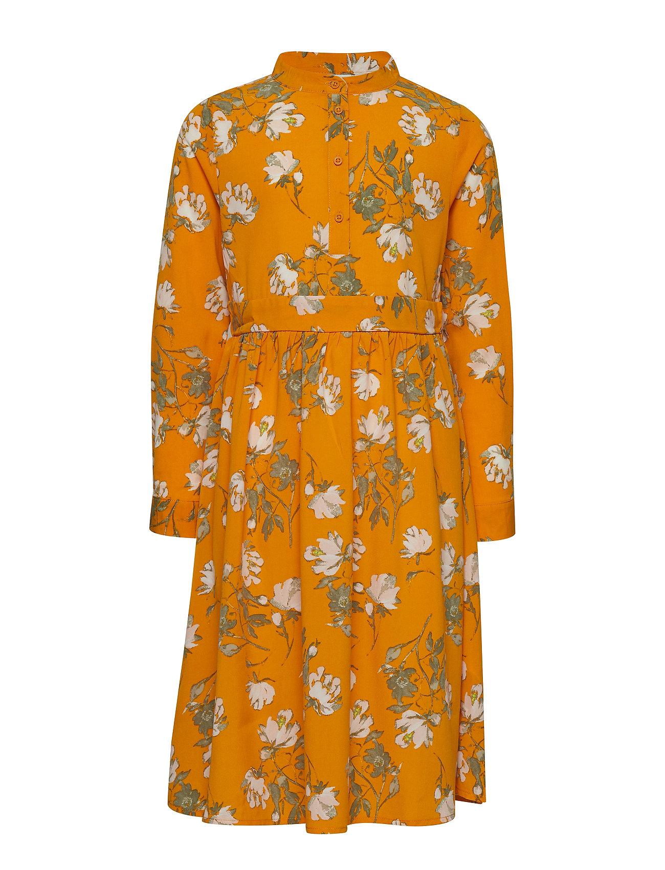 name it NKFVINAYA LS LONG DRESS K - GOLDEN ORANGE
