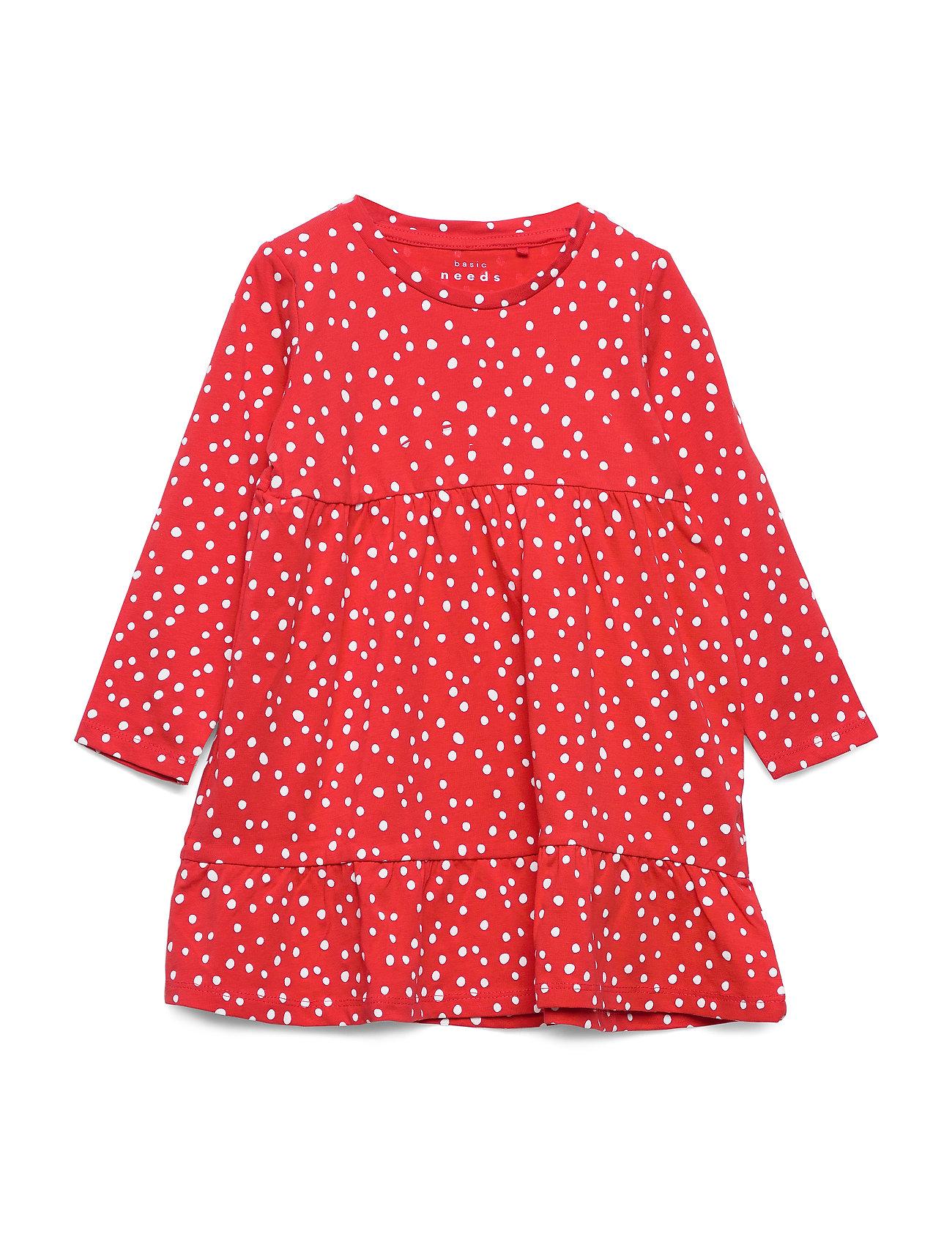 Image of Nmfvicky Ls Dress T Kjole Rød Name It (3307692429)