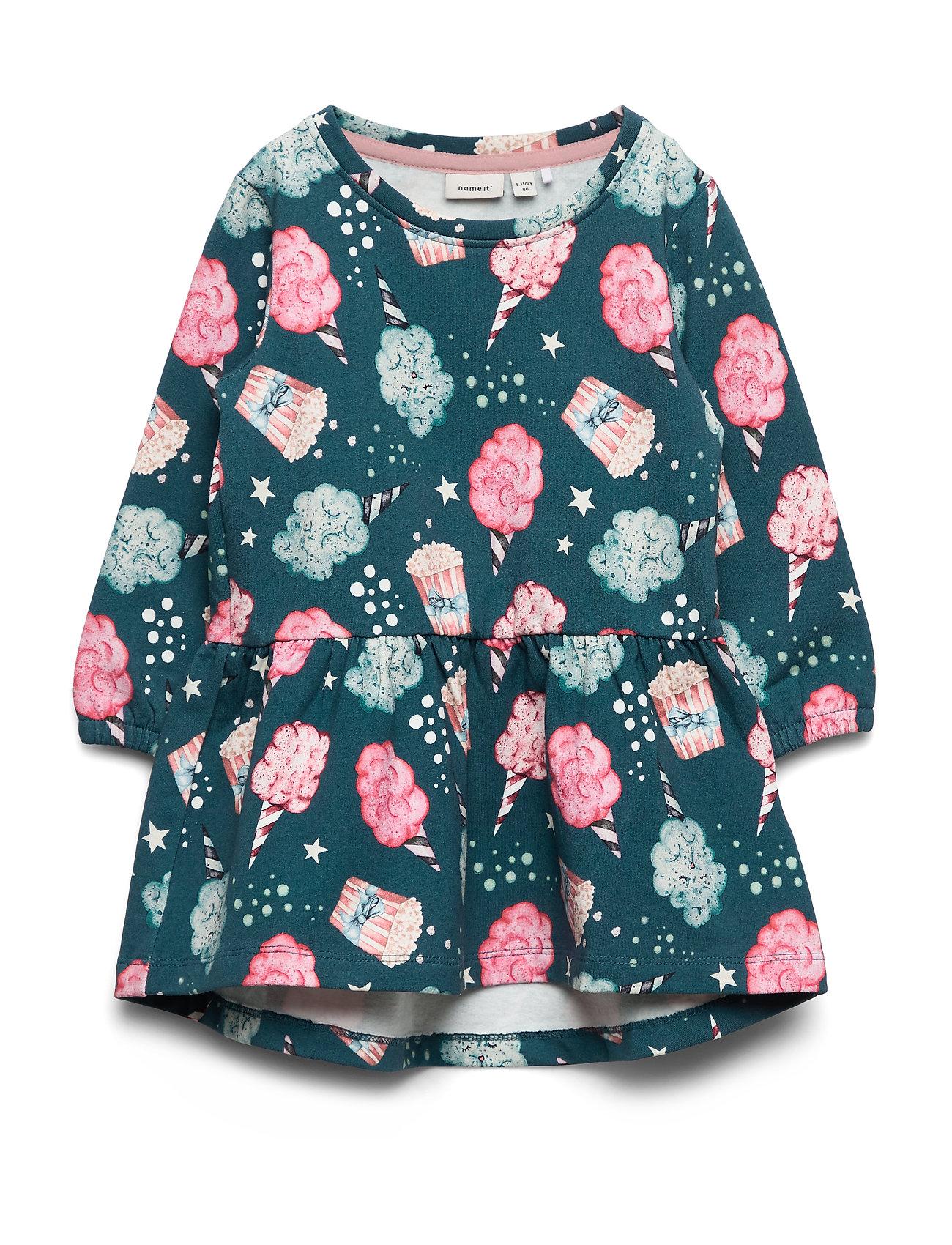 name it NMFRIFA LS SWEAT DRESS BRU - MALLARD BLUE