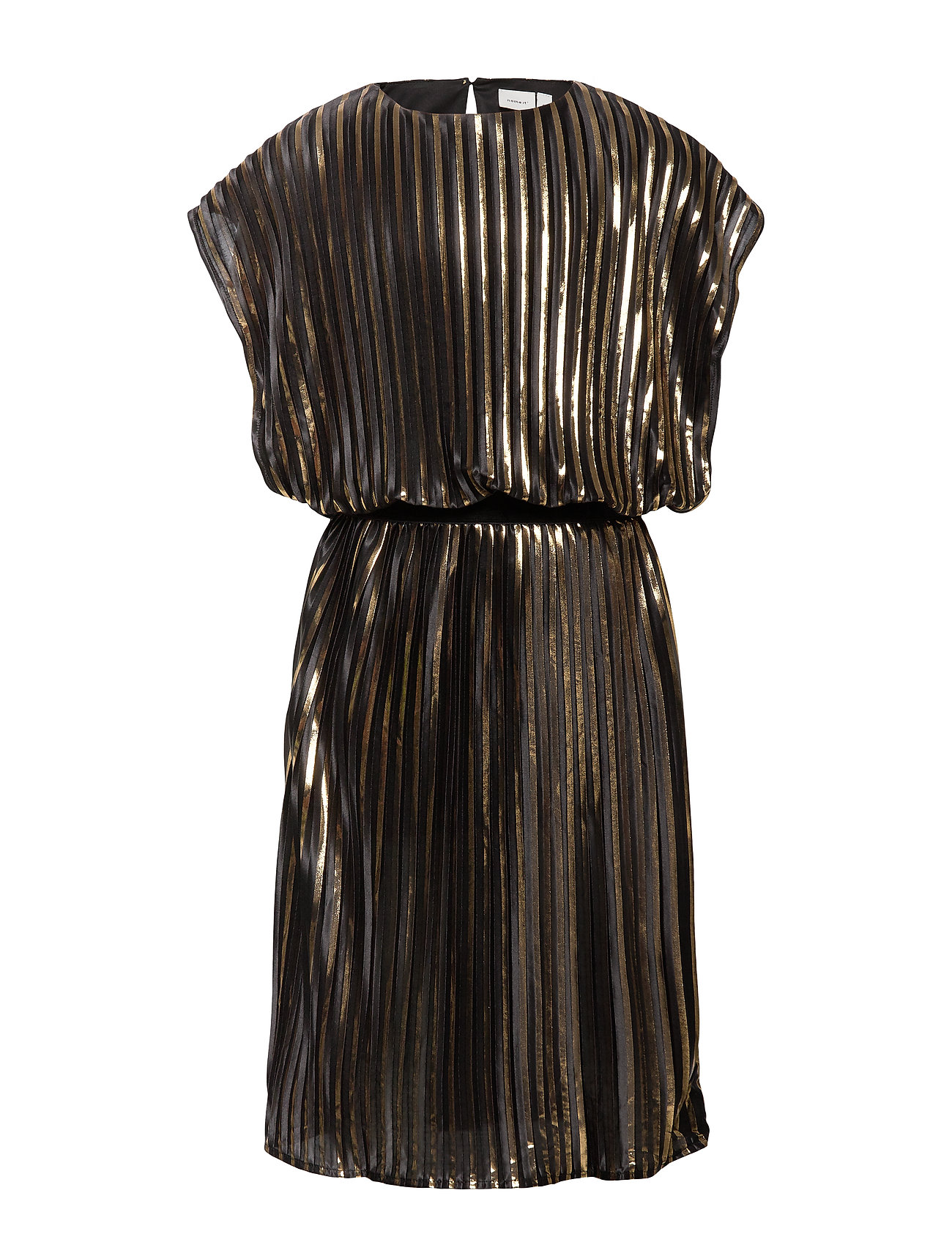 name it NKFRIA PLEAT CAPSL DRESS - BLACK