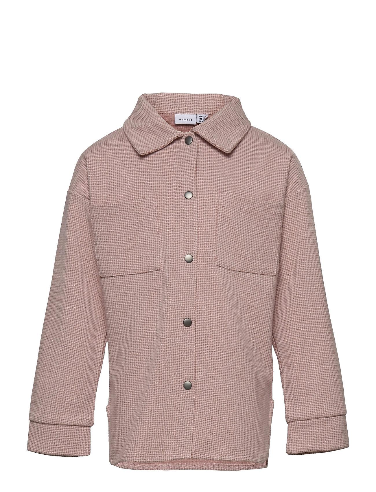 Nkfkenia Ls Overshirt Langærmet T-shirt Lyserød Name It
