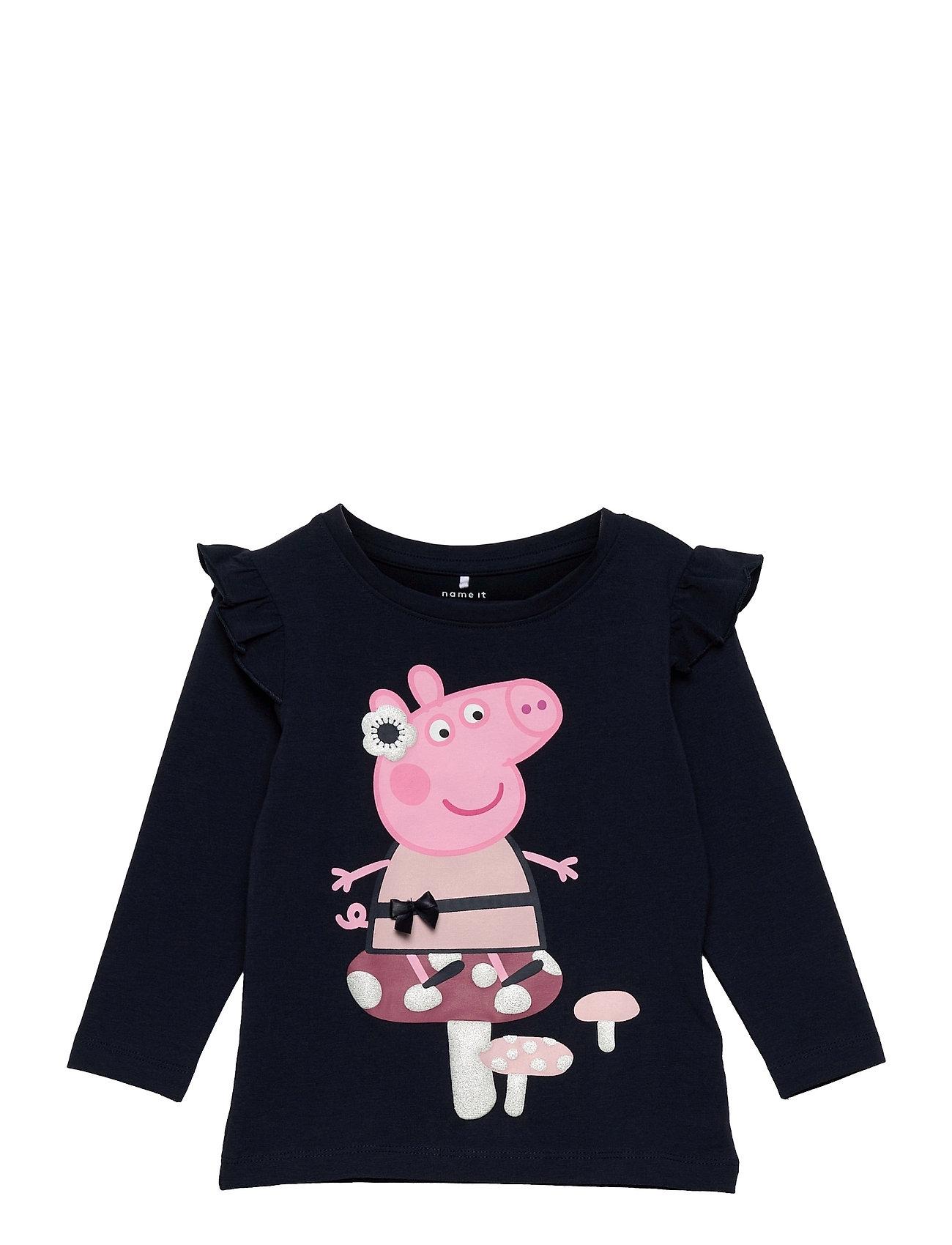 Nmfpeppapig Hildur Ls Top Pep Langærmet T-shirt Blå Name It
