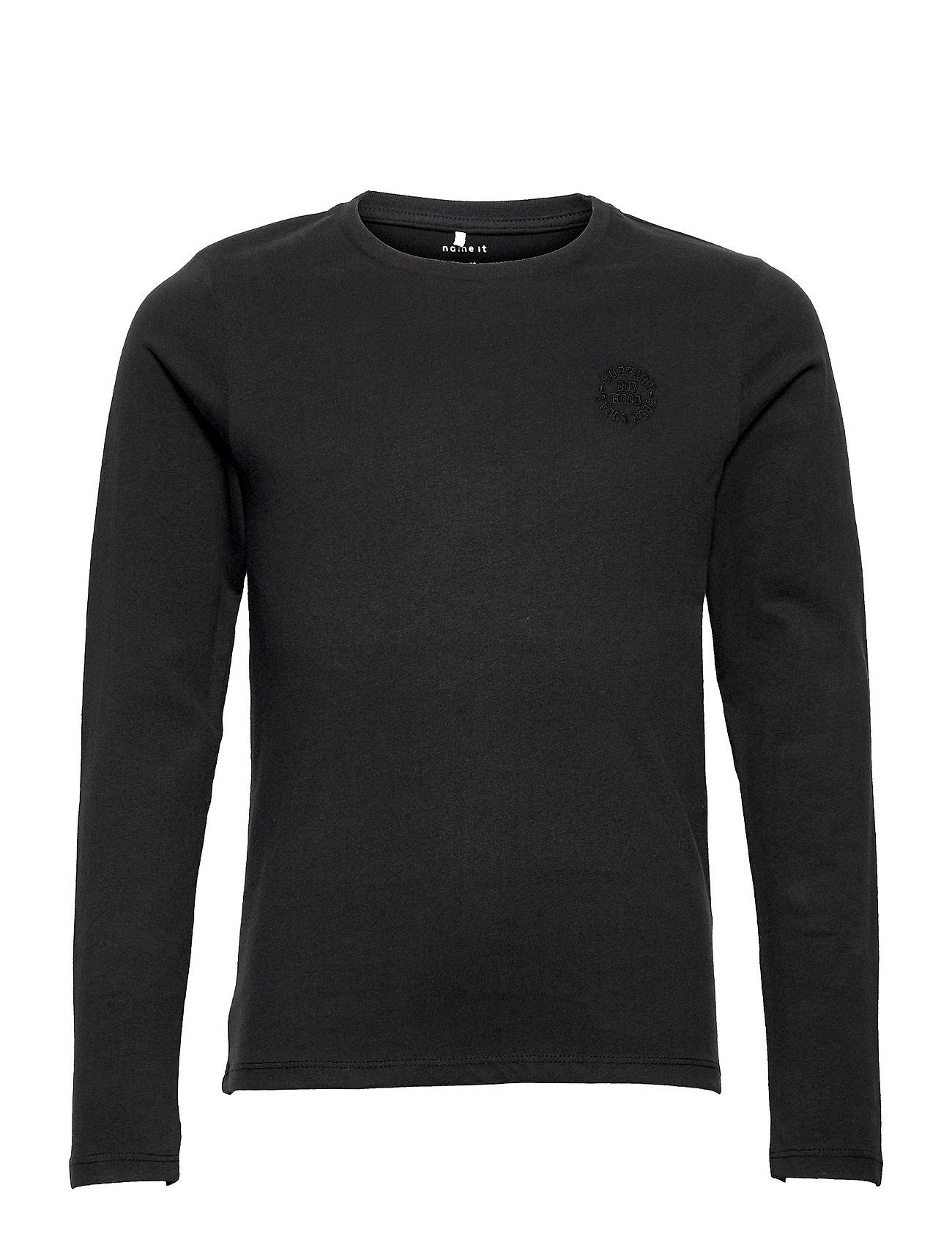 Nkmtano Ls Top Langærmet T-shirt Sort Name It
