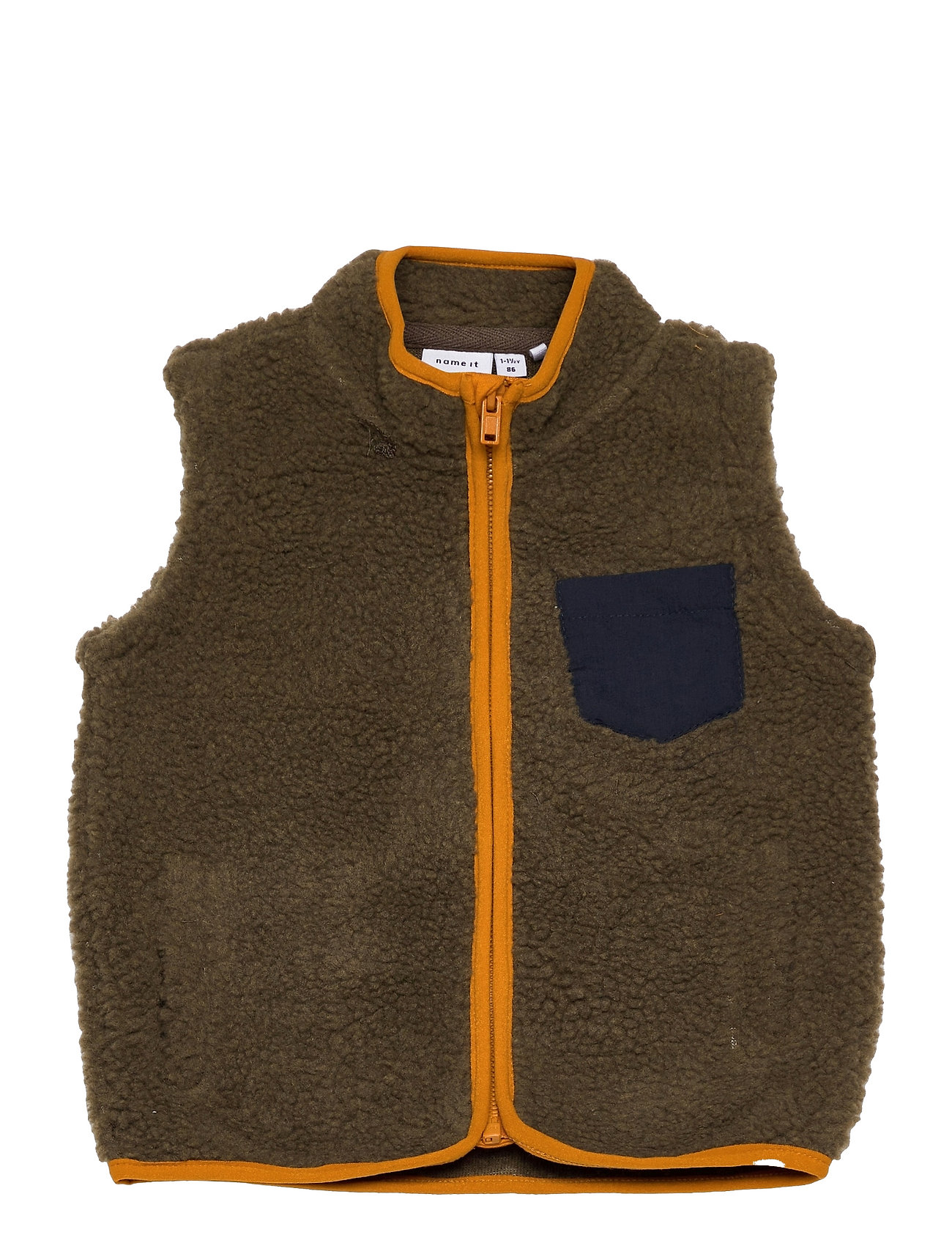 Nmmklint Teddy Waistcoat Vest Brun Name It