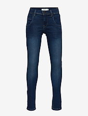 name it - NITTAX SLIM/XSL DNM PANT NMT NOOS - farkut - dark blue denim - 0