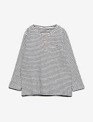 name it - NKMVALENTIN LS TOP T NOOS - langærmede t-shirts - snow white - 0