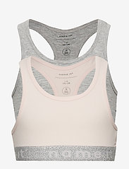 name it - NKFSHORT TOP 2P BARELY PINK LUREX NOOS - tops - barely pink - 0