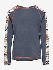name it - NKMWILLTO WOOL LS TOP NOOS XX - basislag - ombre blue - 0